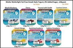 Slimming World Tesco, Slimming World Desserts, Greek Style Yogurt, Oatmeal Muffins, Weight Watchers Meals, Blueberry, Recipies, Vanilla, Coconut