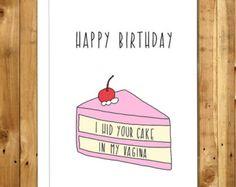 Naughty Card Love Card Anniversary Card by InANutshellStudio
