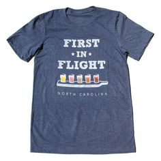 First in Flight Navy Tee (22.00 USD) by WeBeRaleigh