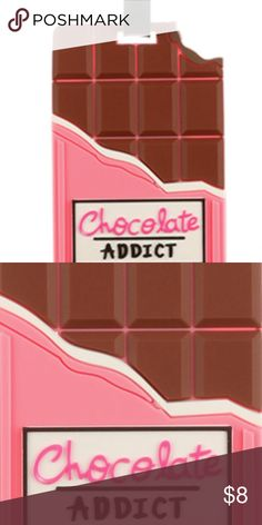 CHOCOLATE ADDICT RUBBER BAG TAG  FOR LUGGAGE SIZE	 6 INCH DROP COLOR	 Multi Color DESCRIPTION GENERAL MERCHANDISE CHOCOLATE ADDICT RUBBER BAG TAG LUGGAGE TAG ID TAG 6 INCH DROP Bags Travel Bags