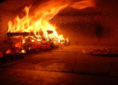 Heating your wood fire oven.