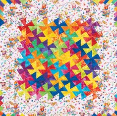 """Twister"" and ""Square Dance"" quilts are irresistibly addictive—and they're more popular than ever. Stop by to see staff Square Dance quilts and learn more about this perfect combo of easy piecing and clever cutting. Pinwheel Quilt Pattern, Quilt Patterns, Scrappy Quilts, Baby Quilts, Quilting Tips, Quilting Projects, Twister Quilts, Tumbler Quilt, Square Dance"