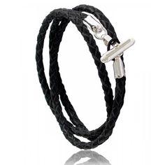 Men leather Spartiate black bracelets - Coté Mecs