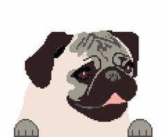 pug small cross stitch - Google Search