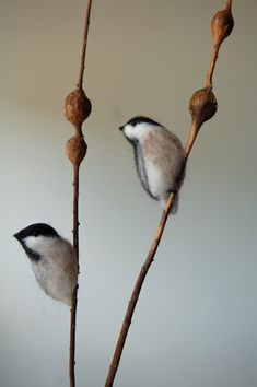 KJE Felties needle felted Chickadee