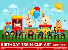 Ehi, ho trovato questa fantastica inserzione di Etsy su https://www.etsy.com/it/listing/231812024/birthday-train-animal-clipart-digital