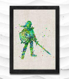 Legend of Zelda Watercolor Print Archival Fine Art Print by CRCRAP