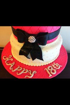 """Sitting Pretty"" debutante cake"