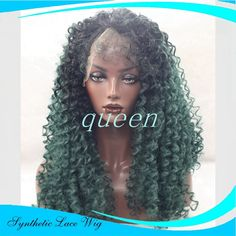 36.00$  Watch more here - http://aiptu.worlditems.win/all/product.php?id=32705002221 - Synthetic Lace Front Wig African American Short Curl Curly Synthetic Wigs For Black Women Ombre Black Green Front Lace Wigs