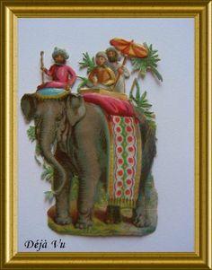 Victorian die cut : elephant, € 10. www.dejavu.marktplaza.nl