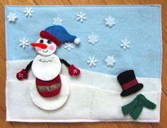 Snowman Quiet Book Page