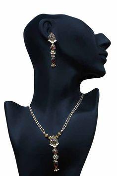 Aaishwarya Elegant Long drop Pearly Necklace Set #necklaceset #pearlynecklace #fashionjewellery