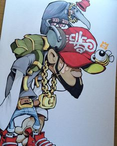 This chap.... #cheo #sketch Graffiti Piece, Graffiti Drawing, Street Art Graffiti, Art Drawings, Graffiti Cartoons, Graffiti Characters, Arte Hip Hop, Hip Hop Art, Alex Gray Art