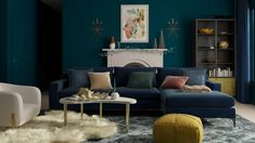 A Glitz And Glam Living Room | Glam-Style Living Room Design Ideas