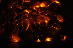 diy glowing coals from orange led lights and expanding spray foam