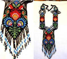 fringe necklace necklace seed bead gerdan necklace bead от UMEUM