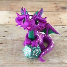 Own an original Dragons and Beasties sculpture! Don't miss the chance to own this happy little guy. Made from high quality colored polymer clay, with handpainted markings. Stamped with the artist's mark on the bottom. | eBay!