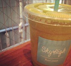 tinapouty #skyhigh #rawjuice #tina #power #green #love