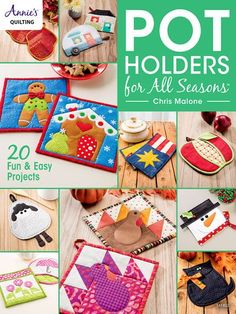 Each season is represented in this book, with some all-season designs thrown in! There are applique and pieced projects, from turkeys and a black cat to a simple fish and a field of flowers. Handy as well as visually appealing, you'll be able to comp...