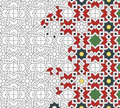 Islamic Patterns and Geometric Tessellations Islamic Art Pattern, Arabic Pattern, Pattern Art, Pattern Design, Islamic Motifs, Zentangle Patterns, Mosaic Patterns, Geometric Patterns, Tile Art
