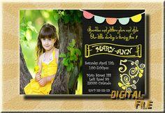 Birthday Invitations Birthday Invitation by DigitalitemsShop