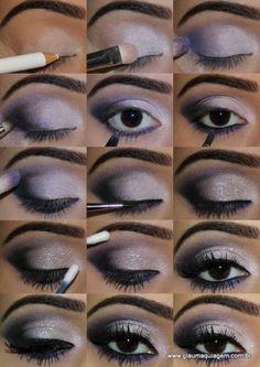 maquiagem sombra lilás