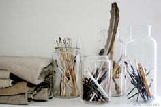Order your stuff in old jars
