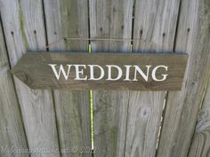 My Repurposed Life-Rustic Wedding Sign made from reclaimed fence.