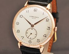 vintage longines rose gold, ~$1500