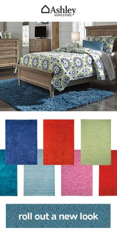 Roll out a new look in your kid's bedroom with a vibrant rug. Whether you're looking for a pop of color or an adorable pattern, complete their space in a fresh and fun way.