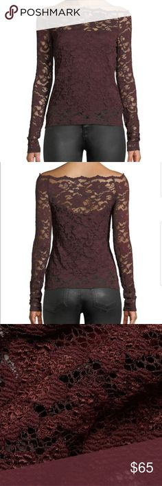 Bailey 44 Womens Black Site Date Night Lace Top