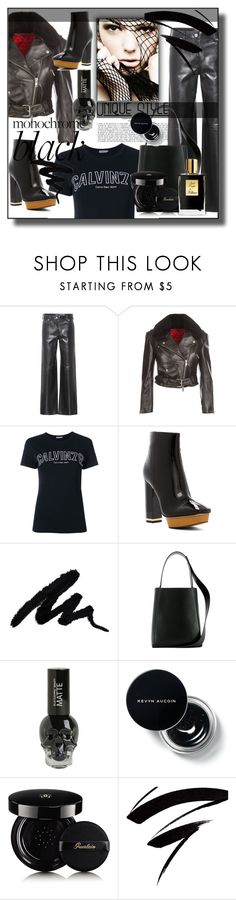 """Mission Monochrome: All-Black Outfit"" by sunflower-707 ❤ liked on Polyvore featuring Calvin Klein 205W39NYC, Calvin Klein, Hot Topic, Guerlain, Kilian and allblackoutfit"