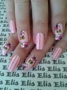 ☺ Us Nails, Love Nails, Hair And Nails, Hawaiian Flower Nails, Sunflower Nails, Plain Nails, Nails Only, Nail Arts, Summer Nails