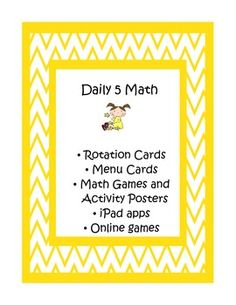 Daily 5 Math Cards and Games