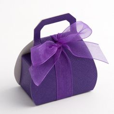 Cadbury Purple Handbag Favour Boxes