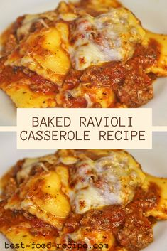 For a qùick and easy recipe packed fùll of flavor try this easy Baked Ravioli Casserole. I started with a bag of frozen cheese ravioli and a jar of spaghetti saùce. Cheese Ravioli Recipe Easy, Frozen Ravioli Recipes, Baked Ravioli Casserole, Ravioli Bake, Casserole Recipes, Ravioli Lasagna, Casserole Dishes, Pasta Recipes, Sicilian Recipes