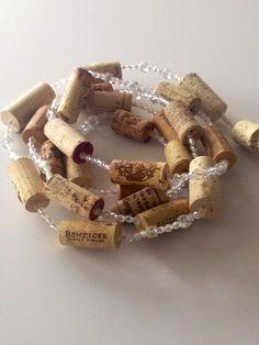 SALE Wine Cork Garland Wine Cork Crafts  by MaxplanationPhotos, $18.00