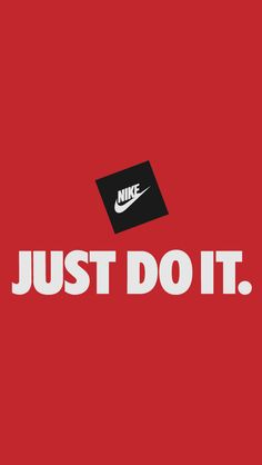 ↑↑TAP AND GET THE FREE APP! Art Creative Nike Quotes Just Do It Motivation Logo Red Black HD iPhone Wallpaper