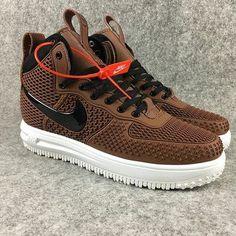 2018 How To Buy 2018 Nike Lunar Force 1 Duckboots High Men Sneakers Brown Black Sneakers Mode, Brown Sneakers, Men Sneakers, Sneakers Fashion, Fashion Shoes, Shoes Men, Mens Fashion, Nike Lunar, Nike Cortez Shoes