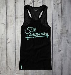 Adorable Gymdoll - Fit Happens Active Tank - Black/Teal