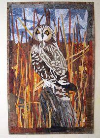 """Barbara Strobel Lardon Art quilts: """"Hootlet"""""""