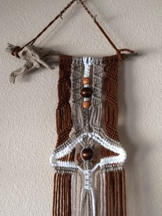 Tusayan Driftwood Macrame Wall Hanging by JillGlidden on Etsy  #macrame #jillgliddenonetsy #gowestdesign #driftwood #boho #bohemian #tribal #native #natural #wallhangings #beaded #handmade #unique