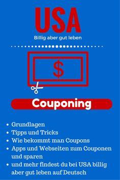 Du möchtest in der USA das Couponing beginnen? Auf dieser Seite findest du eine Uebersicht der Themen im Blog über Couponing in der USA. Finde hier Anleitungen und Tipps auf Deutsch. #Couponing #DeutscheUSA #UsaBilligAberGutLeben