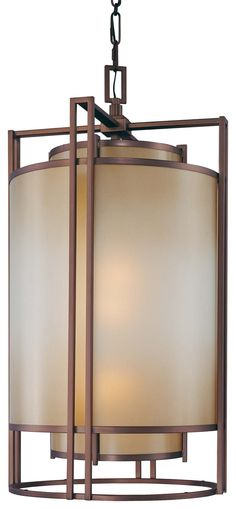 Three Light Pendant  38 x 20  bronze  $1299