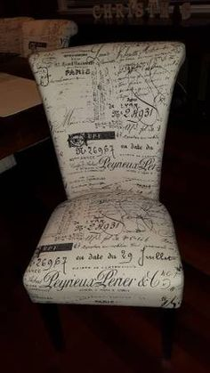 Attractive 6 French Script Dining Chairs