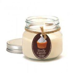 #10016257 Vanilla Cupcake Mason Jar Candle By Orchard Village by sensationaldecorandmore