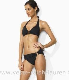 10a4b62d7388 boutique Officielle maillot de bain Ralph Lauren femme mode03 noir Short De  Bain Ralph Lauren Pas