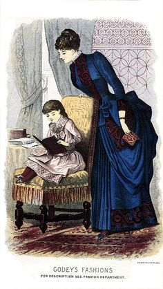 1884 Godey's Lady's Book Fashion Plate