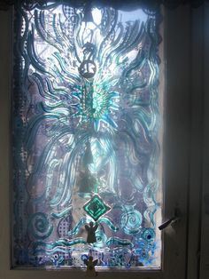 """Glass painting/art/""""Touch of light from behind"""" by  http://www.artwanted.com/Heli Aarniranta©2013"""