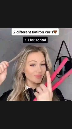 Easy Hairstyles For Long Hair, Curled Hairstyles, Girl Hairstyles, Hairdos, Curl Hair With Straightener, How To Curl Hair With Curling Iron, Curling Short Hair, How To Curl Short Hair, Hair Tips Video